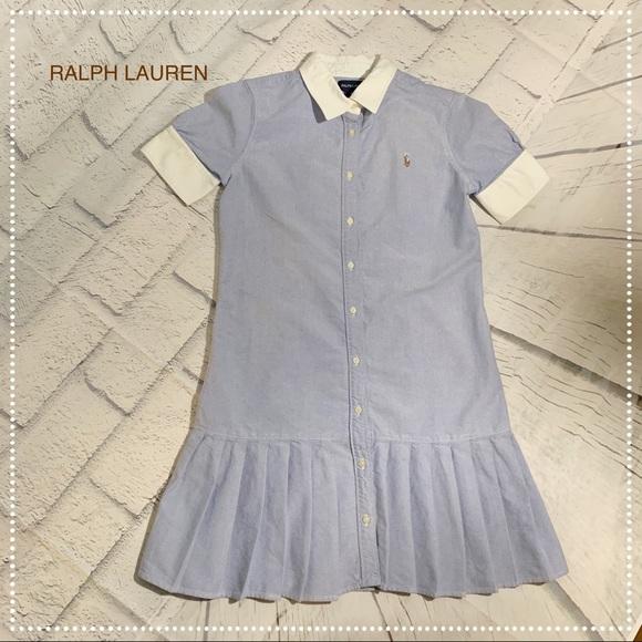 acac2784d Ralph Lauren Dresses   Girls Blue Oxford Pleated Dress   Poshmark
